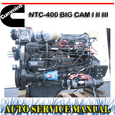 CUMMINS NTC-400 BIG CAM I II III DIESEL ENGINE WORKSHOP SERVICE MANUAL ~ DVD