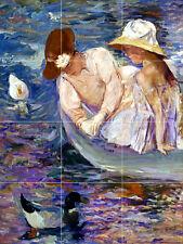 Art Mary Cassatt Summertime Kitchen Mural Ceramic Backsplash Tile #2323