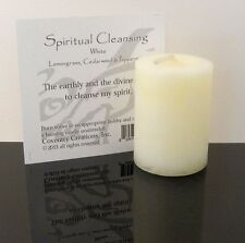 SPIRITUAL CLEANSING Candle Wiccan Coventry Creations Blessed Herbal votive