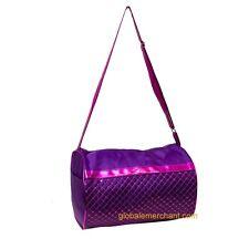 Dance Duffel Purple Sequin & Shoulder Strap Bag