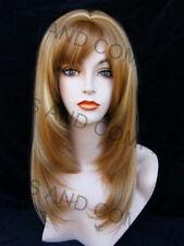 Straight Face Framing w Blunt Cut Bangs Center skinTop Blonde Mix WASR 27CH24B