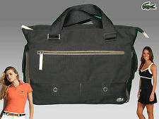 New Vintage LACOSTE Womens Ladies TOTE Bag New Casual 11 Black