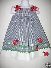 """NWOT CHANTILLY PLACE """"Ladybug"""" Gingham Dress  Size 4T"""