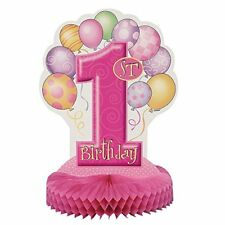 Unique Party Supplies / Tischdeko 1 Geburtstag rosa