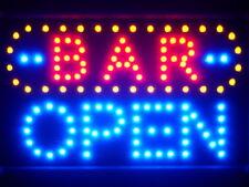 led072-b BAR OPEN Led Neon Sign WhiteBoard