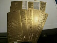 10X STICKERS GOLD  FOR MAKE CARDS  23X10 CM NEW (ST188) MIX