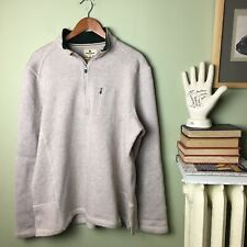 Woolrich Men's Sweater Sweatshirt 1/4 Zip Outdoor Pullover XL Oatmeal