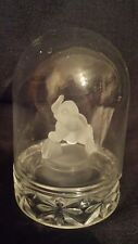 ELEPHANT clear art glass heavy paperweight animal figurine
