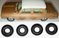 4 NEW REPLACEMENT TYRES Suit DINKY 196 HOLDEN 14mm Treaded Black Tires