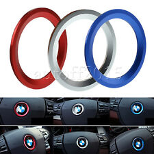 1x Steering Wheel Center Ring Cover Logo Emblem Decoration 45mm Trim For BMW