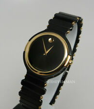 Mens Unisex Swiss Movado Black PVD Gold Small Dial Vintage Retro Watch