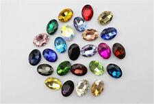 50pcs 10x8mm rhinestone point back oval shape crystal glass beads DIY gem stone