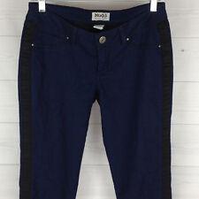 MUDD Women's Size 7 Skinny Stretch Blue Black Stripe Soft Riveted Pants