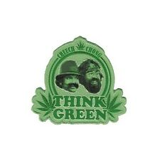 CHEECH & CHONG think green Emb Sew On Patch/Patches NEW OFFICIAL.