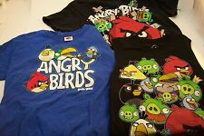 3 Angry Birds T-Shirts,Big Kids,New Sleevless 10-12 Medium,Adult Small