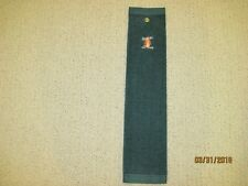 Falcon's Fire golf club, Orlando FL golf towel, green with white/orange/red logo