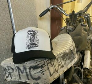 DeadPartsMC Dead Parts MC #1 design black and white ballcap hat