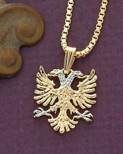 Albanian Eagle Pendant, Albanian Jewelry, Coin Jewelry, Ethnic Jewelry, (# 929B)