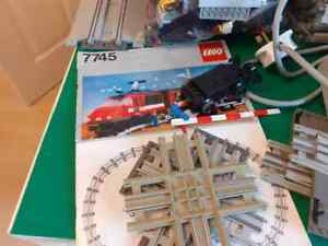 lego 12v train set 7745 with lots of extras plus instructions for 7824