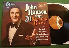John Hanson Sing 20 Showtime Greats from Carousel/DESERT SONG + un 1002 LP