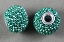 Verde Menta Artigianale Metal-Lined Pendente Perline 12MM Rotondo (6)