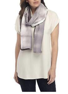 $198 NWT Eileen Fisher Luna Organic Cotton Silk Shibori Tie Dye Horizon Scarf