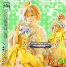 Yellow Lolita Dress Gown Love live Rin Hoshizora Cosplay Costume Victorian