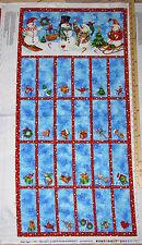 "Winter Magic Christmas Advent Calendar Northcott Fabric 23"" Pnl #21070"