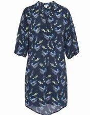 Whistles Folksy Print Lola Cupro Dress Women Uk 8 Navy
