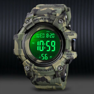 New Mens Watch Army Military Alarm Digital LED Waterproof Fashion Sports Watches