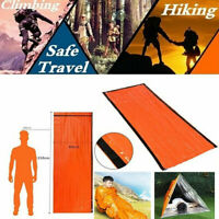 Reusable Emergency Sleeping Bag Thermal Waterproof Survival Camping Travel US 2H