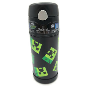 Minecraft Thermos® FUNtainer 12 Oz. Stainless Steel Insulated Bottle Free Ship