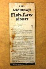 Vintage 1956 Michigan Fish Law Digest- Michigan Dept. of Conservation Booklet