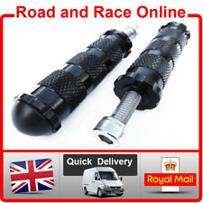 Race Foot Pegs For Rearsets 8mm M8 Fixing Black CNC Knurled Aluminium Inc Bolts