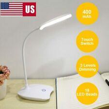 US LED Desk Reading Lamp Dimmable Flexible 3 Models USB...