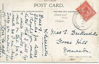 CROCKEY HILL YORK RUBBER CANCEL ON KING GEORGE V 1d RED  REF 1428