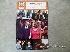 CARTE FICHE CINEMA 2009 PUBLIC ENEMIES Johnny Depp Marion Cotillard