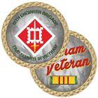 "ARMY VIETNAM VETERAN RIBBON 18TH ENGINEER BRIGADE MILITARY 1.75"" CHALLENGE COIN"