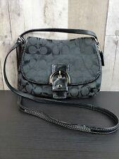 COACH CROSSBODY BAG - BLACK SIGNATURE -SMALL
