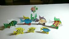 MURANO Italian Glass Art  FISH ... 8 pieces. Hand Blown