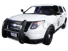 2015 FORD INTERCEPTOR POLICE UTILITY CHP WHITE 1/24 MODEL CAR BY MOTORMAX 76957