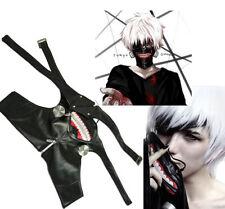 USA Seller Anime Tokyo Ghoul Cosplay Kaneki Ken Prop Zipper PU Adjustable Mask