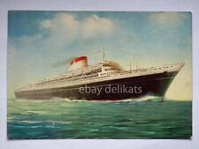 NAVE LEONARDO DA VINCI Italia Navigazione ship Lloyd liner vecchia cartolina