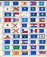 FULL SHEET of 50 STATE FLAGS BICENTENNIAL ERA US 13c-STAMPS 1976 Scott 1633-1682