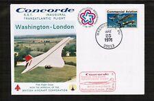 Concorde 1976 Inaugural Flight Cover Washington - London