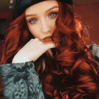 Womens Synthetic Lace Front Wig Copper Red Orange Long Wavy Wigs Glueless Hair