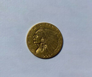 1908 USA Gold 2 ½ Dollars, Indian Head - Quarter Eagle