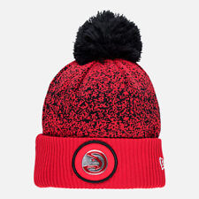 Brand New Adult New Era Atlanta Hawks NBA On Court Collection Pom Knit Hat