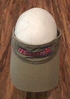 Brock Khaki Visor Cap Plant Construction Racing Cap Cars Strap Golf Tennis Hat