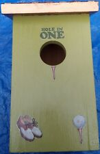 New Handcrafted Copper Roof Golf Accented Birdhouse~Garden Decor~Yard Ornament